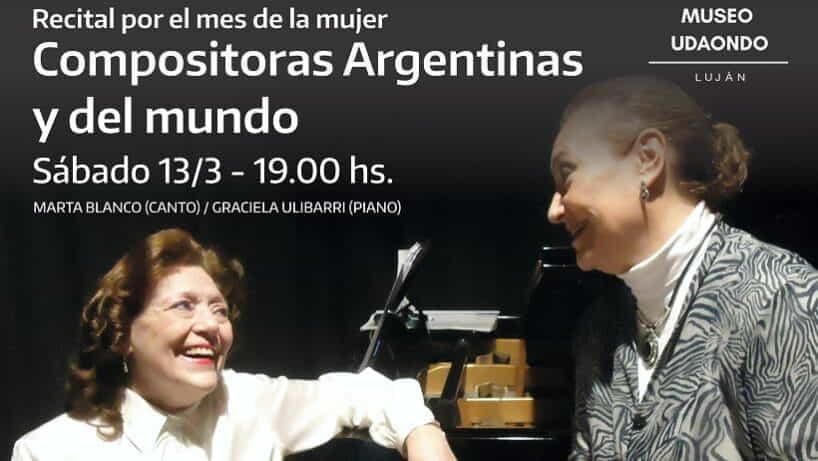 Concierto de «Compositoras Argentinas y del Mundo» en el Museo Udaondo