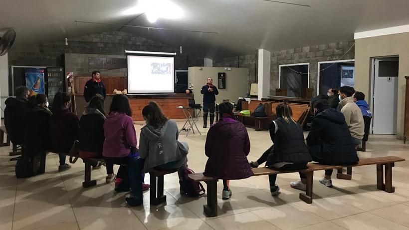 Capacitación de los Bomberos Voluntarios en Luján Rugby Club