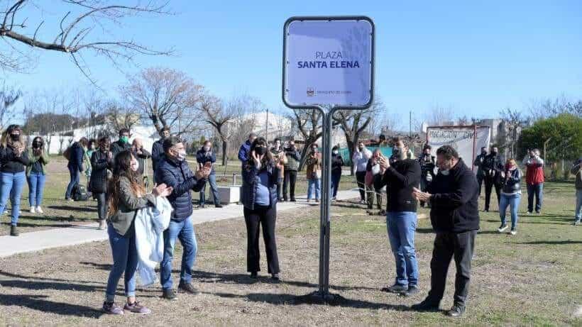 Quedó inaugurada la nueva plaza en El Quinto