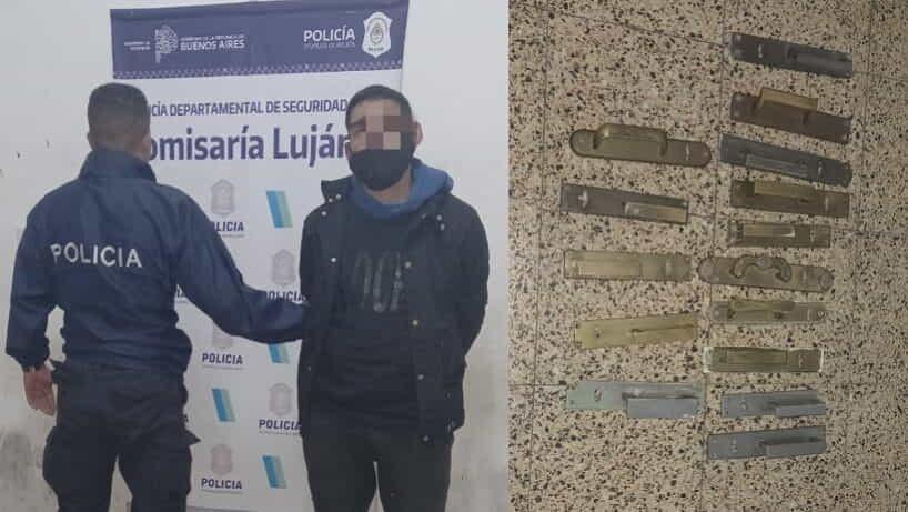 Detuvieron a un sujeto robando picaportes de casas céntricas